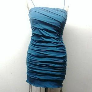 Sweet storm teal bandage dress size large